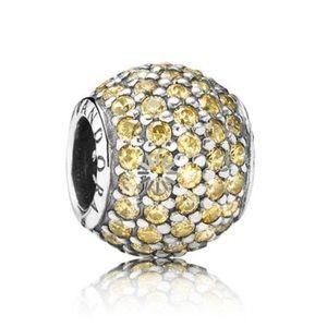 New Pandora Golden Pave Lights Charm